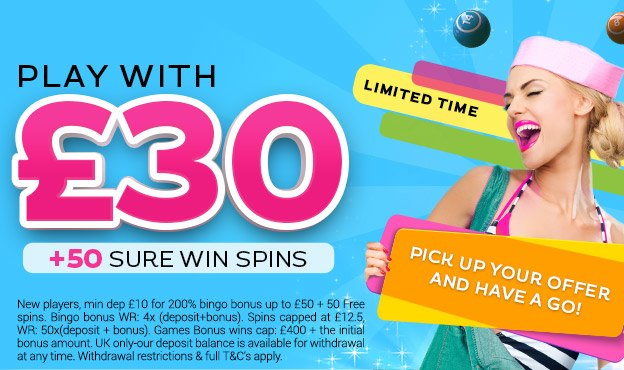 New Players Min Dep 10 For 200 Bingo Bonus Up To 50 Free Spins WR 4x Deposit Capped At 125 50xdeposit