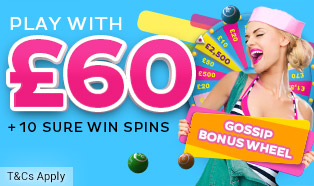 Welcome Offer: Play with £60 + 10 SPINS